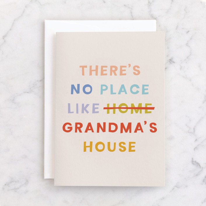 """""""grandma's house"""" - Individual Mother's Day Greeting Cards in Blush by Ellen Schlegelmilch."""