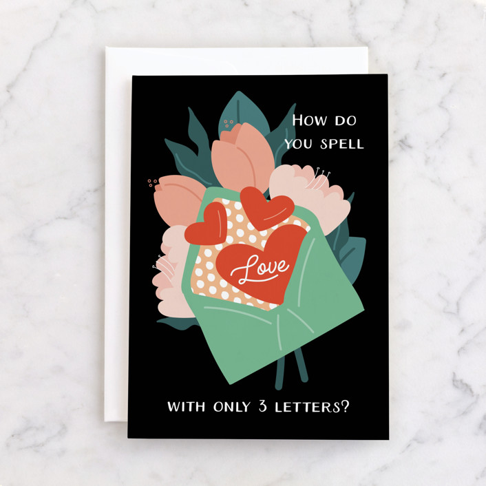"""""""Love Letter to Mom"""" - Individual Mother's Day Greeting Cards in Midnight by Corinne Malesic."""