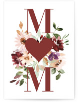 This is a red mothers day card by Petra Kern called In My Heart Forever with standard printing on signature in greeting cards.