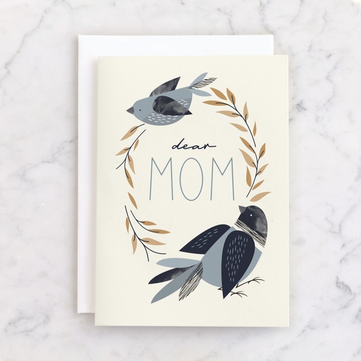 """""""You Taught Me to Fly"""" - Individual Mother's Day Greeting Cards in Sky by JeAnna Casper."""