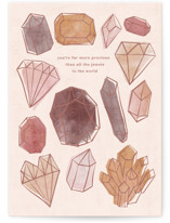 This is a brown mothers day card by Creo Study called Precious with standard printing on signature in greeting cards.