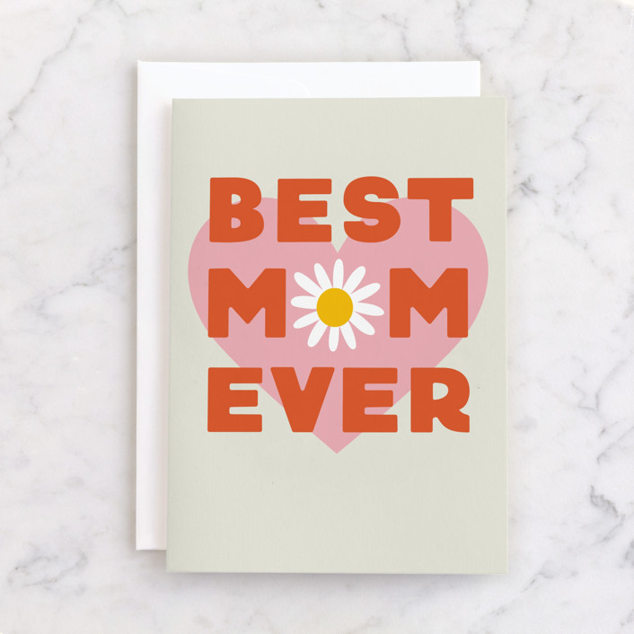 """""""Retro Mom"""" - Individual Mother's Day Greeting Cards in Terracotta by Everett Paper Goods."""