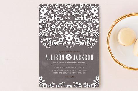 Paper Flowers Wedding Invitations