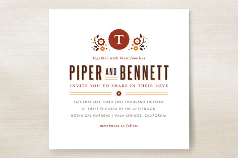 Sweet Florals Wedding Invitations