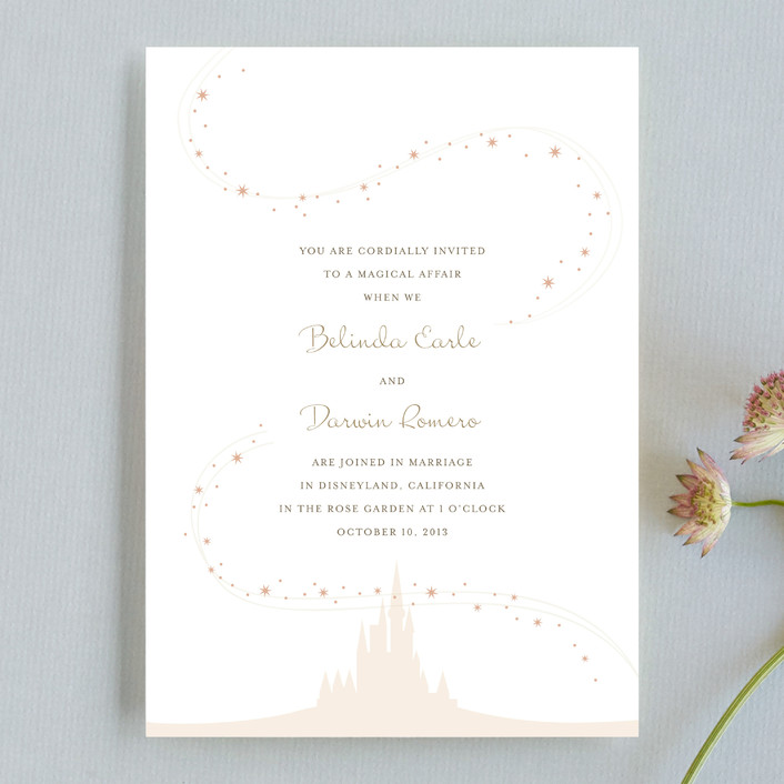 """Enchanted Stars"" - Whimsical & Funny, Funny Wedding Invitations in Blossom by Jody Wody."