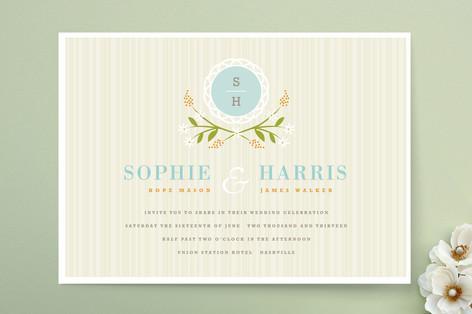 Sweet Stripe Wedding Invitations
