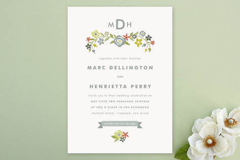 Flourish Nuptial Wedding Invitations
