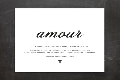 Amour Wedding Invitations