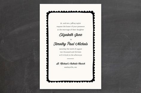 Simple Scallop Wedding Invitations