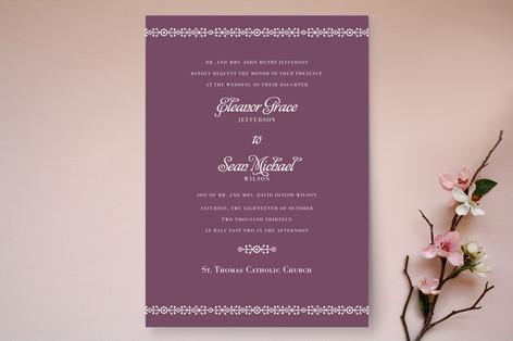 Ornamental Formal Wedding Invitations