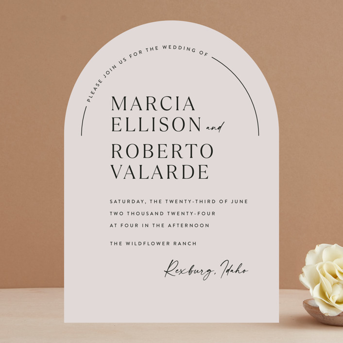 """""""Overjoyed"""" - Wedding Invitations in Almond by Jill Means."""