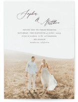 This is a brown wedding invitation by Benita Crandall called un mariage photographique with standard printing on signature in standard.