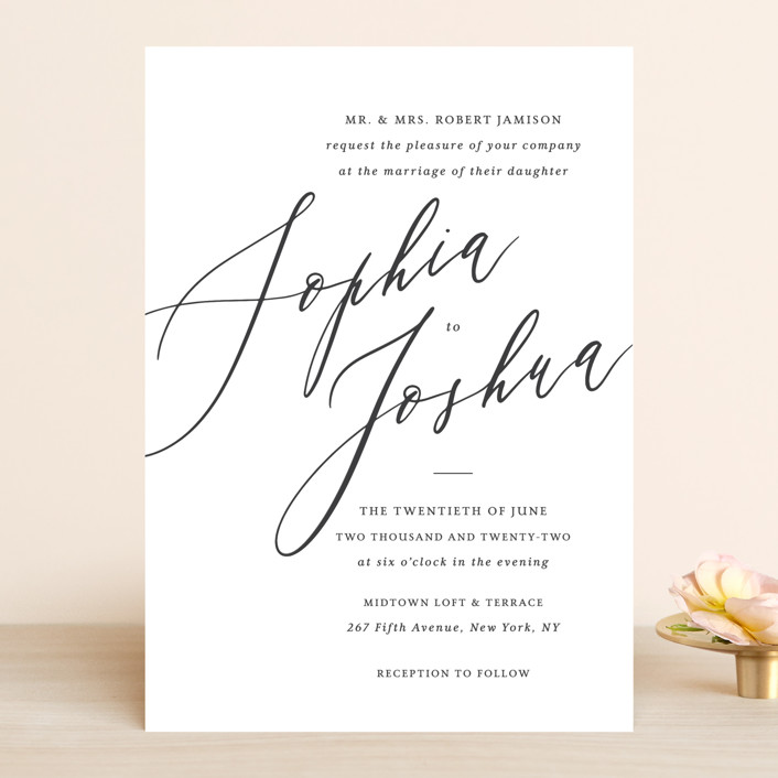 """""""Crescendo"""" - Wedding Invitations in Snow by Griffinbell Paper Co.."""