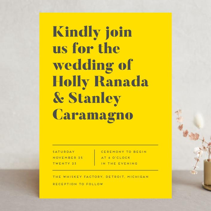 """Vogue"" - Wedding Invitations in Navy by Genna Blackburn."