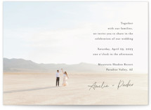 This is a black wedding invitation by Jennifer Postorino called Handwritten with standard printing on signature in standard.