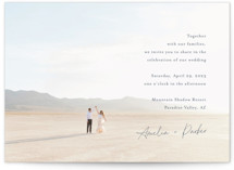 This is a blue wedding invitation by Jennifer Postorino called Handwritten with standard printing on signature in standard.