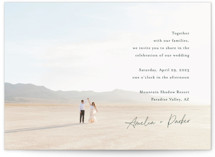 This is a green wedding invitation by Jennifer Postorino called Handwritten with standard printing on signature in standard.