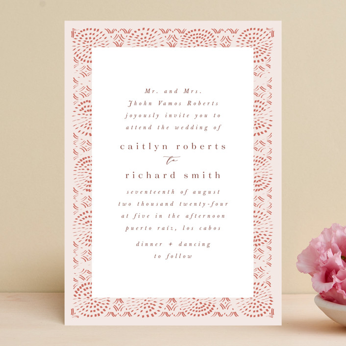 """Terracotta"" - Bohemian Wedding Invitations in Rust by Kanika Mathur."