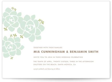 Sunday Succulent Wedding Invitations