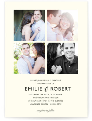 photo of Moments Captured Wedding Invitations