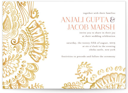 photo of Modern Mehndi Wedding Invitations