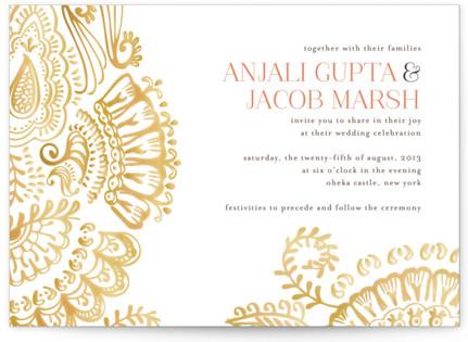 photo of Modern Mehndi Wedding Invitations