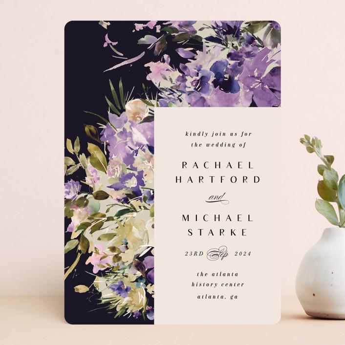 """goddess"" - Wedding Invitations in Midnight by Lori Wemple."