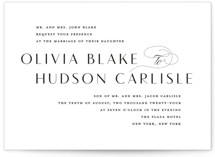 This is a black wedding invitation by Lauren Chism called Plaza with standard printing on signature in standard.