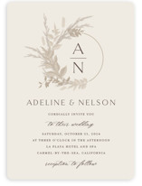 This is a brown wedding invitation by Erin Deegan called Preserved Fall Botanicals with standard printing on signature in standard.