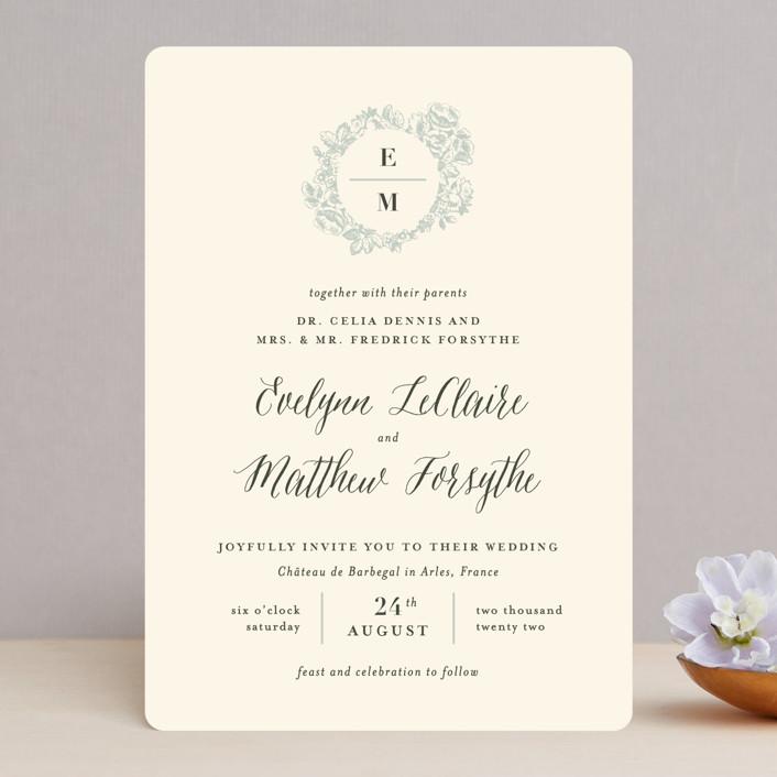 """French Roses"" - Wedding Invitations in Blush by 2birdstone."