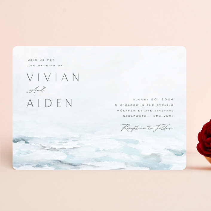 """At Sea"" - Wedding Invitations in Sky by Nicoletta Savod."
