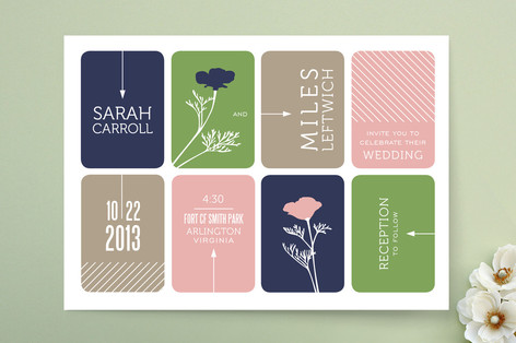 Modern Blocks Wedding Invitations
