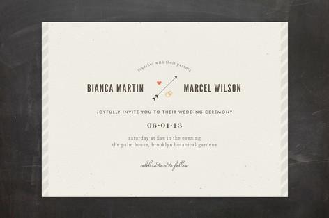 Newsprint Wedding Invitations