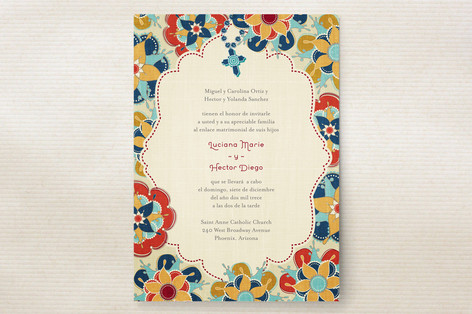 Las Flores Bonitas Wedding Invitations