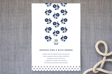 Petite Pattern Wedding Invitations
