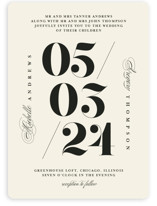 This is a beige wedding invitation by Anastasia Makarova called Big Date with standard printing on signature in standard.