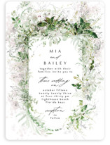 This is a green wedding invitation by Phrosne Ras called Lush Greenery with standard printing on signature in standard.