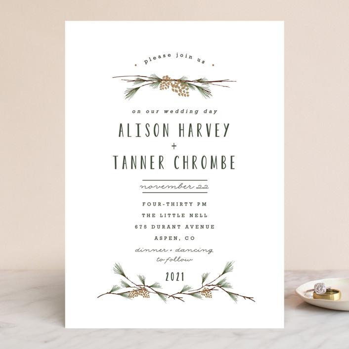 """""""Rustic Wedding"""" - Rustic Wedding Invitations in Pine by Susan Brown."""