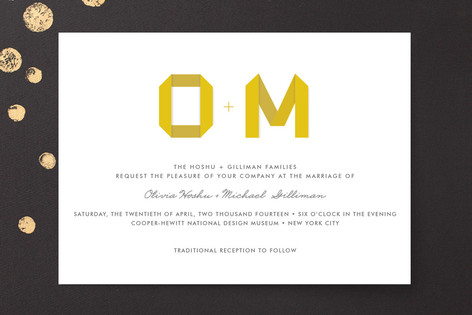 Origami Wedding Invitations By Root Beer Float