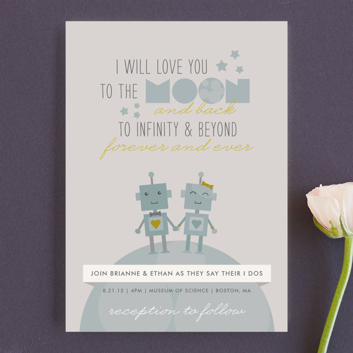 Infinity & Beyond Wedding Invitations by Dawn Jasper | Minted