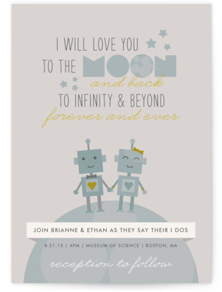 photo of Infinity & Beyond Wedding Invitations