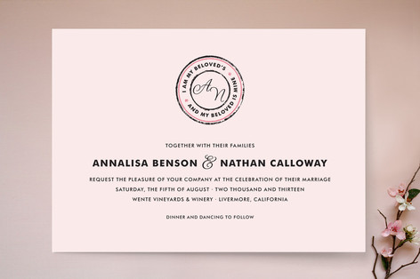 Beloved Monogram Wedding Invitations