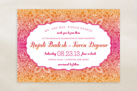 Mod Mehndi Wedding Invitations by Sarah Guse Brown Minted