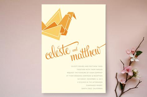 Wedding Cranes Wedding Invitations