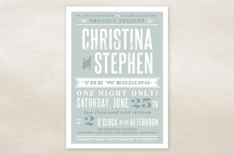 Woodtype Poster Wedding Invitations