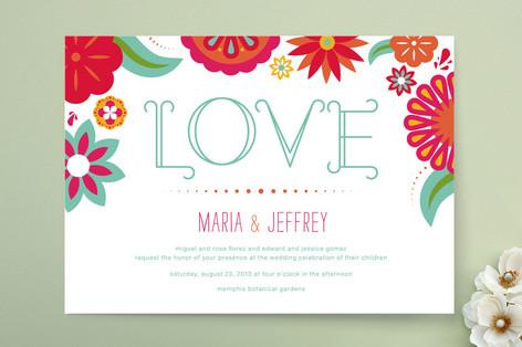 Dia de Amor Wedding Invitations