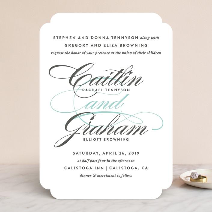 Cordial Flourish Wedding Invitations by Olivia Raufman | Minted