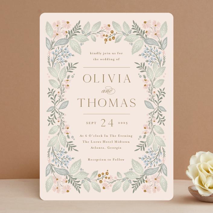 """Wild Flora"" - Wedding Invitations in Blossom by Kristen Smith."