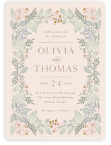 This is a pink wedding invitation by Kristen Smith called Wild Flora with standard printing on signature in standard.