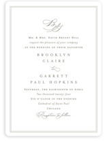 This is a white wedding invitation by Amy Kross called Overlapping with standard printing on signature in standard.